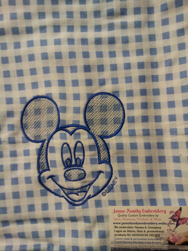 Micky shadow embroidery